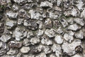 Flint stone wall texture in wiltshire uk or background full frame Stock Images