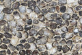 Flints in wall flint or cobbles background or texture Stock Images