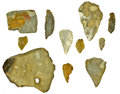 Flintstones stone age flint silex stones isolated Stock Photography