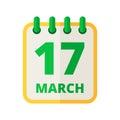 Flip calendar vector icon in flat design style. Paper organizer