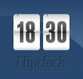 Flip clock realistic illustration eps Stock Images