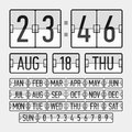 Flip clock template with time, date and day Stock Photography