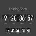 Flip coming soon countdown timer template Stock Image