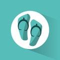 flip flop beach accesory Royalty Free Stock Photo
