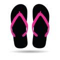 Flip flop in black color illustration