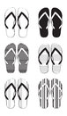 Flip flop collection Stock Images