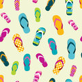 Flip flop color summer pattern. Seamless repeat pattern, background.