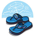 Flip flop sandals Stock Photos