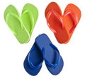 Flip Flop Sandals in Heart Shapes Royalty Free Stock Photos