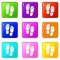 Flip flop sandals set 9 Royalty Free Stock Photo