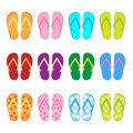 Flip flop - set Royalty Free Stock Photo