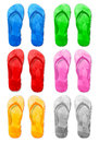 Flip flop set Royalty Free Stock Photo