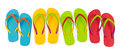 Flip flop sets realistic with different color combination Royalty Free Stock Image