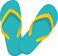 Flip-flop turquoise Royalty Free Stock Photo