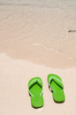 Flip flops on the beach Stock Image