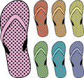 Flip flops clipart Royalty Free Stock Photography
