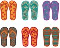 Flip flops collection. Stock Image