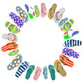 Flip flops the different color Royalty Free Stock Images