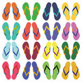 Flip flops, sandals, summer sandals Stock Photo