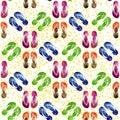 Flip flops seamless pattern Royalty Free Stock Photo