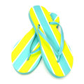 Flip flops summer on a white background Royalty Free Stock Images