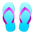 Flip flops vector this is file of eps format Stock Photography