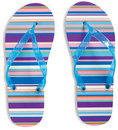 Flip Flops on white background Royalty Free Stock Image