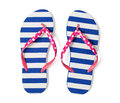 Flip flops  on white with clipping path Royalty Free Stock Photo