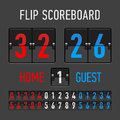 Flip scoreboard illustration on dark Stock Photo