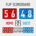 Flip scoreboard illustration on white Stock Photos