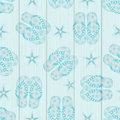 Flipflop repeatable pattern on wood flipflops and starfish seamless background Stock Photo