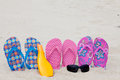 FlipFlops on beach Stock Photos