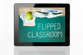 Flipped Classroom Concept On Digital Tablet Royalty Free Stock Photo