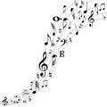 Flippiger musik hintergrund Lizenzfreie Stockbilder