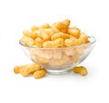 Flips snacks on the plate with clipping path Royalty Free Stock Images