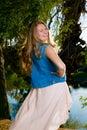 Flirtatious Teenage Girl Royalty Free Stock Photo