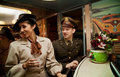 Flirting on the Troop Train Royalty Free Stock Photo