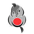 Flirty Bullfinch Bird Logo Element