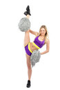 Flixible cheerleader woman dancer in modern twine Royalty Free Stock Photos