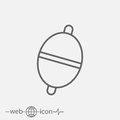 Float. bobber vector icon