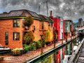 Float homes heritage home on granville islnd Royalty Free Stock Image