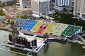 The float at marina bay singapore jun on june in singapore it is also known as floating platform and is world s Royalty Free Stock Images