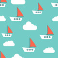 Floating boat Vector illustration