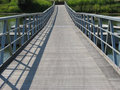 Floating Bridge Perspective Royalty Free Stock Images