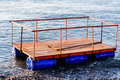 Floating Dock For Construction Purposes Royalty Free Stock Photo