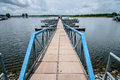 Floating dock marina Royalty Free Stock Photo