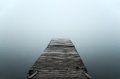 Floating dock in mist Royalty Free Stock Photo