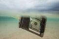 Floating dollar in speacial bag