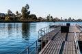 Floating Fishing Pier At Lake ...