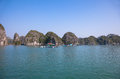 Floating Fishing Village in Ha Long Bay, Vietnam Royalty Free Stock Photo